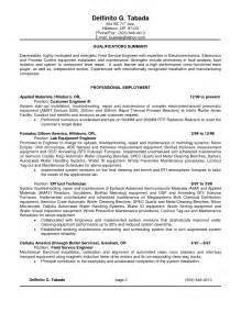 Sle Resume Of A Electronics Technician Design Technician Resume Sales Technician Lewesmr