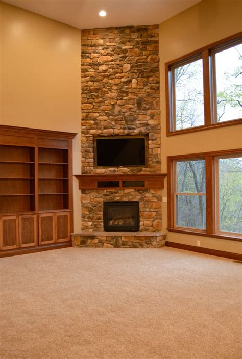 floor to ceiling corner fireplace corner fireplace