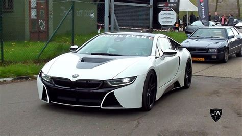 matte white bmw matte white bmw i8 coupe drag racing vs other supercars