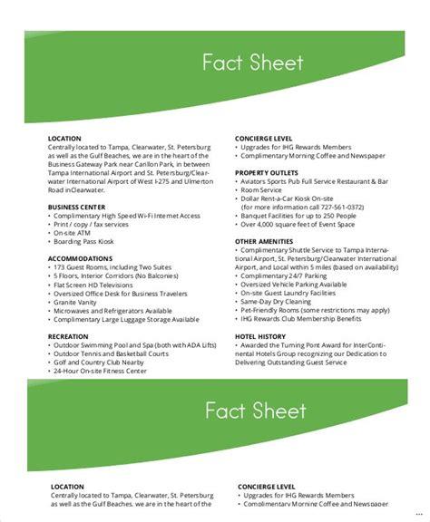 fact sheet template original snapshot e marevinho
