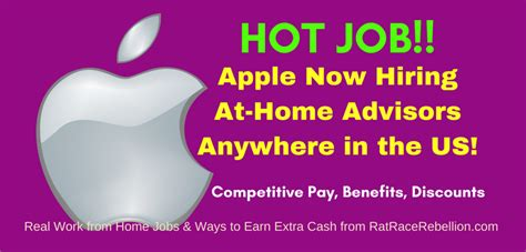 apple now hiring at home advisors act fast