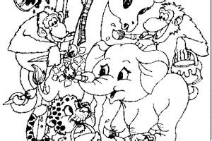 Group Of Animals Coloring Page | group of forest animal coloring coloring pages