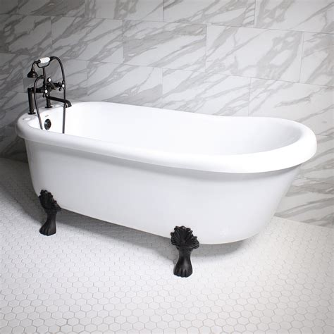 Clawfoot Tub With Whirlpool Jets Empress Em67n 67 Quot Hydromassage Water And Air Jetted Single