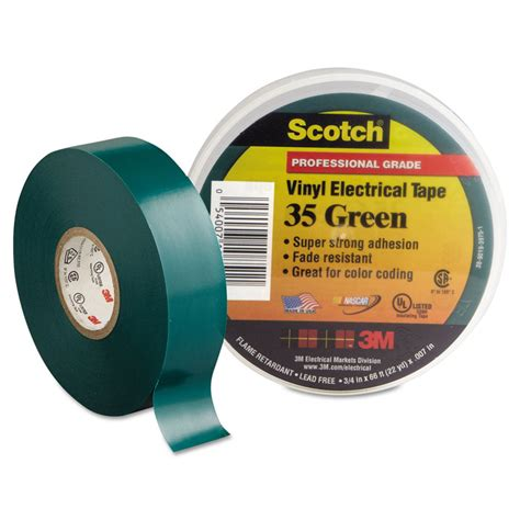3m Isolasi Scotch 35 Vinyl Electrical Merah 3m scotch 35 color coding electrical 3 4 inch x 66 green