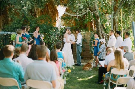 budget backyard wedding rustic wedding chic