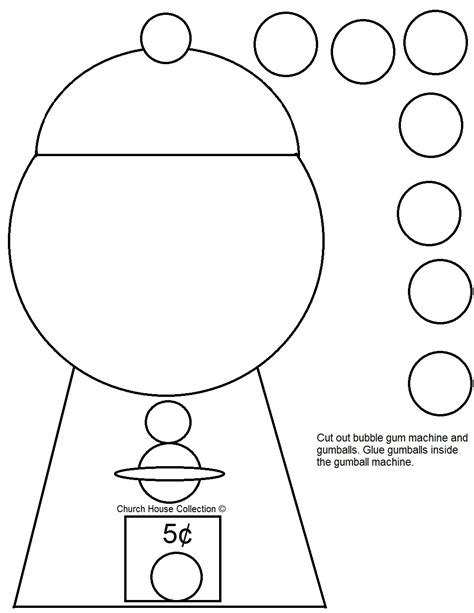 gumball machine template church house collection gumball machine cut out
