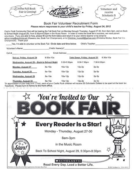 scholastic book fair flyer template book fair volunteer flyer images