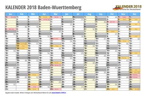 Kalender 2018 Ferien Feiertage Baden Württemberg Kalender 2018 Baden W 252 Rttemberg Zum Ausdrucken 171 Kalender 2018