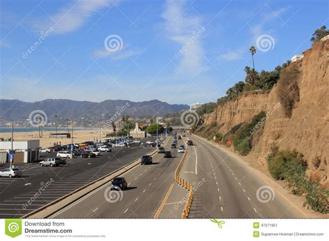 Pch Traffic Santa Monica - santa monica highway stock image cartoondealer com 77355799