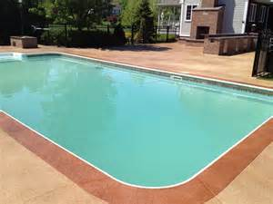 pool deck colors pool deck border and stain kote decorative