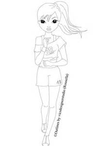topmodel jogger outline by vicsdesignerstudio on deviantart sketch template