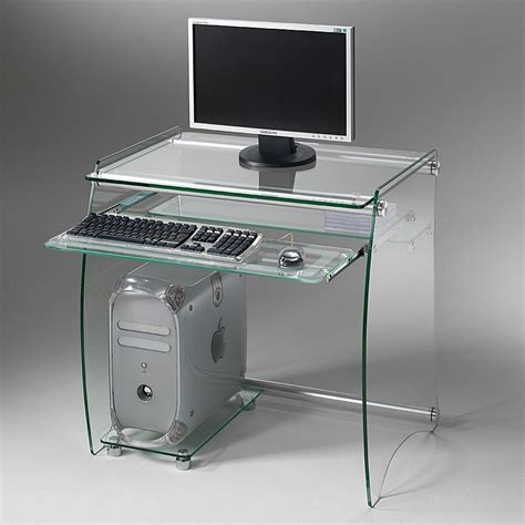 porta pc in vetro scrivania computer clear porta pc in vetro 75 x 55 cm
