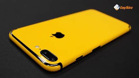 iphone 7 plus golden yellow skin by easyskinz