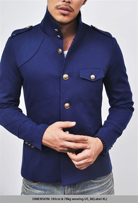 5 Inspired Jackets For Fall by Japanese Gakuran Inspired Mens Blue Navy High Neck