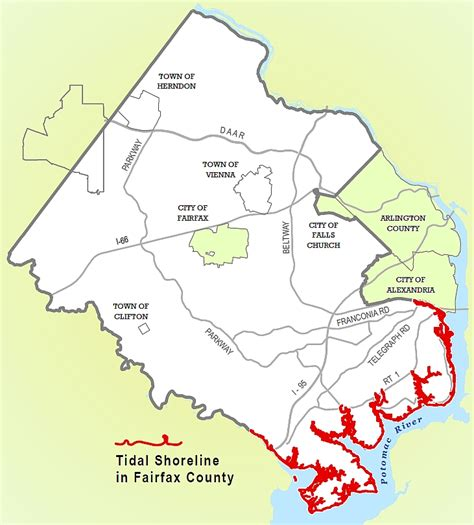 fairfax county virginia gis planning fairfax county tidal shoreline land development services