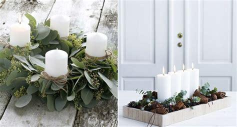 composizioni di natale con candele 1001 idee per centrotavola natalizi creativi e originali