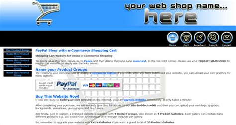 Shopping Cart Website Template Paypal Store Website Design Shopping Cart Website Template Free