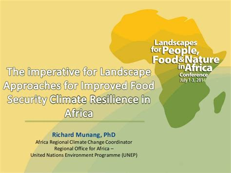 Doctorate In Security 1 by Richard Munang The Imperative For Landscape Approaches