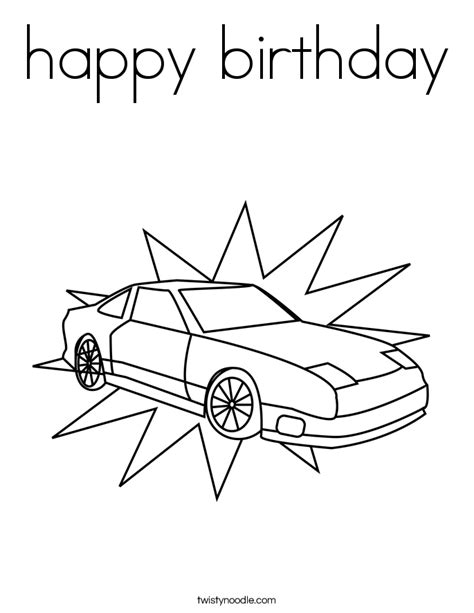 cars birthday coloring pages happy birthday coloring pages cars coloring pages