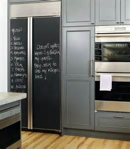 Charcoal gray design with gray blue painted kitchen cabinets