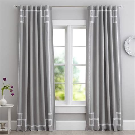ribbon drapes emma ribbon trim blackout drape pbteen