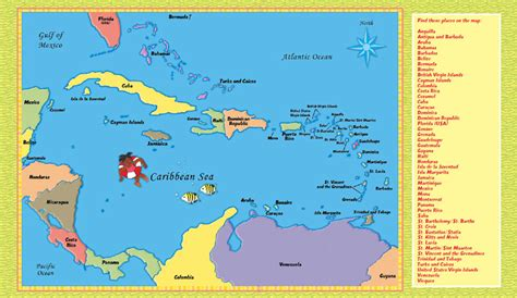 Printable Maps Caribbean Islands | the gallery for gt map of caribbean black and white