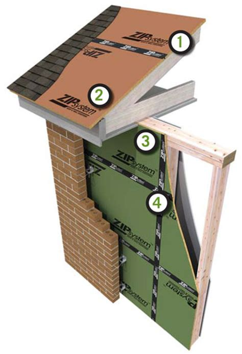 Zip System Roof Installation - zip system roof sheathing wall sheathing huber