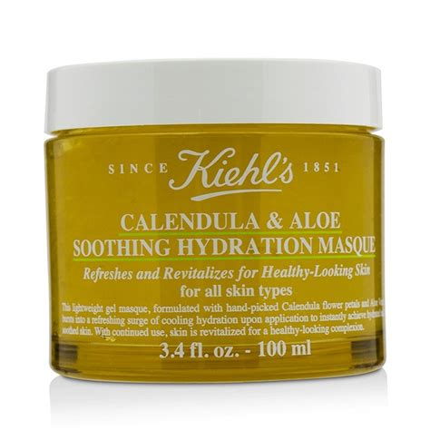 Murah Kiehls Calendula Aloe Soothing Hydration Masque 100ml kiehl s calendula aloe soothing hydration masque for all skin types fresh