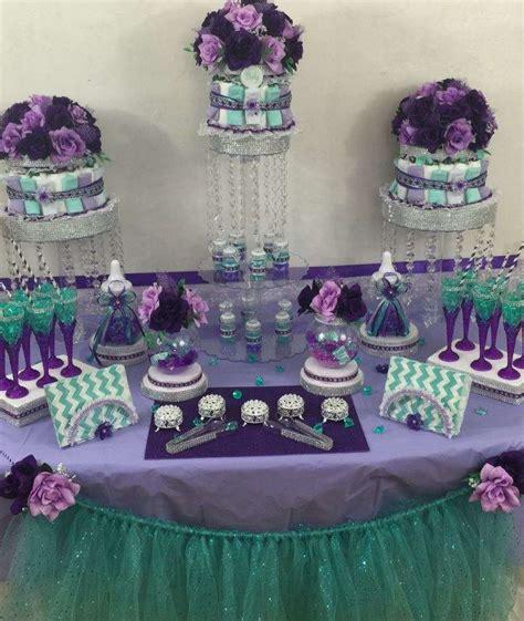 Lil Royal Purple mermaid baby shower baby shower ideas