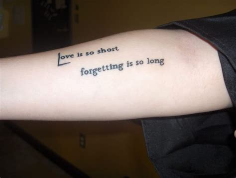 love quote tattoo on arm painful love quote tattoo on arm tattooimages biz