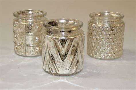 Mercury Glass Candle Holders by Gold Mercury Glass Tea Light Holders With Candles