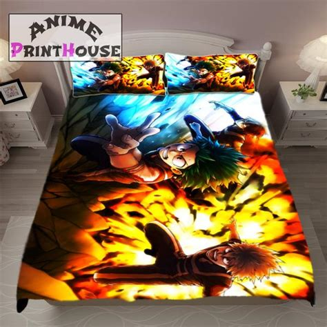hero academia blanket bed set covers anime print house