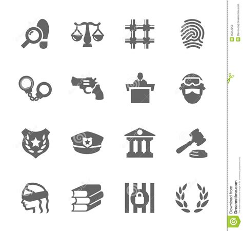 design is law law and justice icons stock vector illustration of