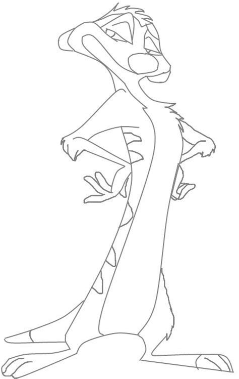 lion king timon coloring pages timon lion king character coloring page