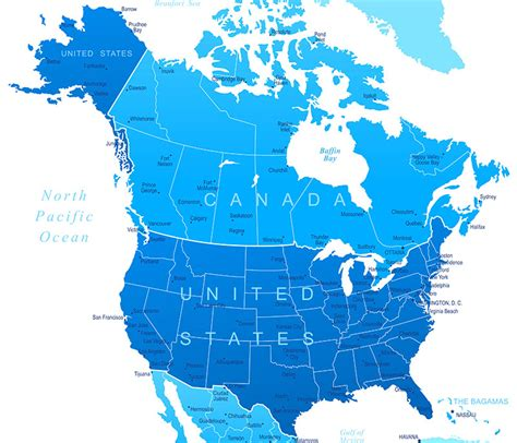 map of the united states canada a map of canada and the united states standvanstad