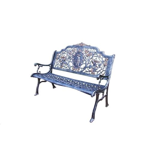 cast aluminum patio bench oakland living golfer cast aluminum patio bench 6004 ap