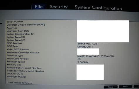 reset bios hp probook 4530s probook 6560b i5 2520 vt x bios hp support forum 876907