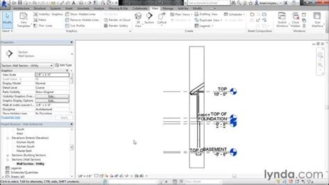 revit tutorial section creating a wall section