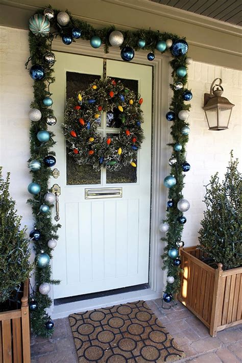 how to decorate your front door front door decorations corner
