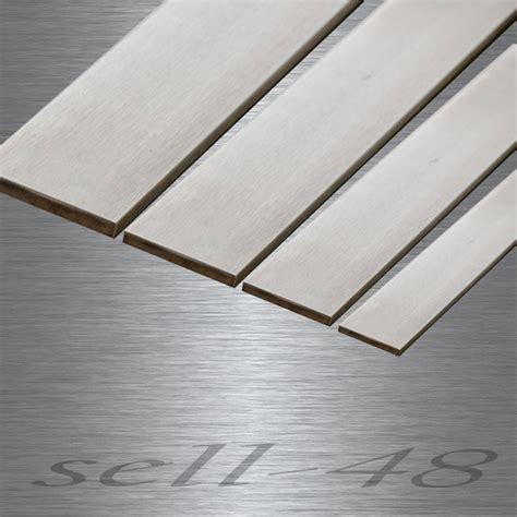 Edelstahlplatten 10mm Stark by Edelstahl Flachstahl Flachmaterial V2a Stahl Blank Gezogen