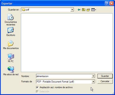 guardar imagenes a pdf crear documentos pdf desde openoffice