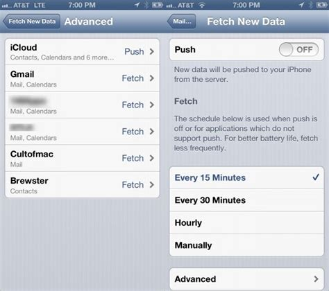 iphone email settings change fetch settings on your iphone and see your email sooner ios cult of mac