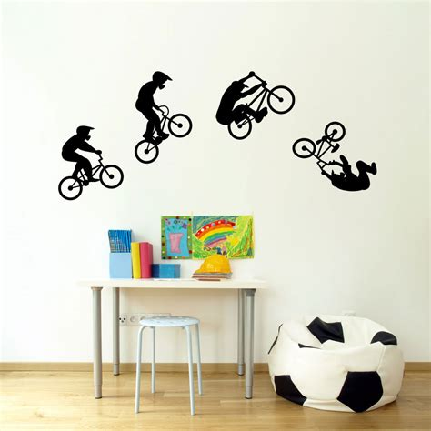bmx wall stickers bmx wallsticker fra kun 149 kr