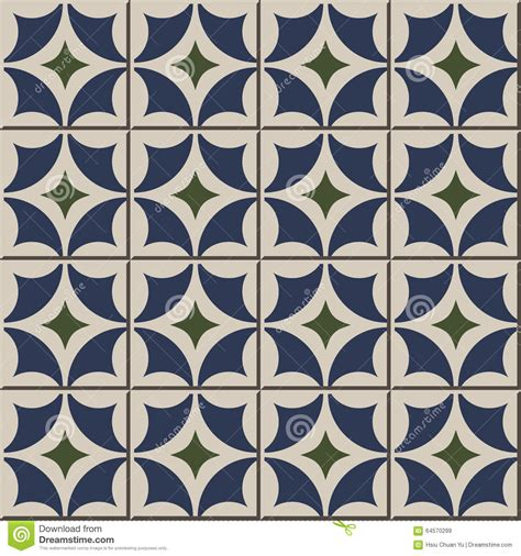 tile pattern round vintage seamless wall tiles of round diamond geometry