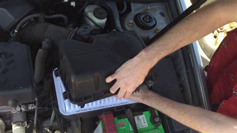 change  toyota camry   engine air
