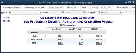 quickbooks tutorial job costing labor expenses in job costing quickbooks training