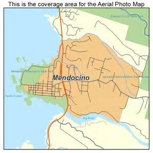 aerial photography map of mendocino ca california