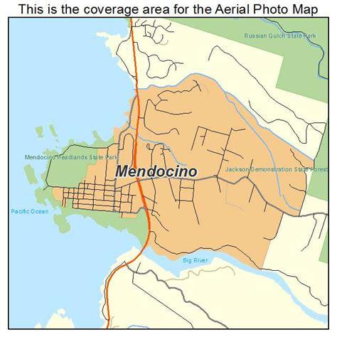 california map mendocino aerial photography map of mendocino ca california