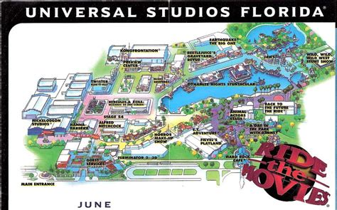map of universal studios park map universal studios florida 1998 the dod3