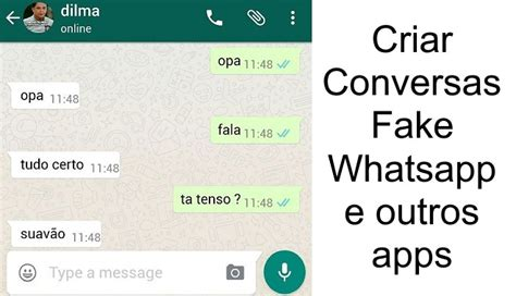 tutorial numero fake no whatsapp criar conversas fake whatsapp facebook messenger super